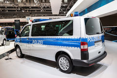 New VW Transporter Polizei edition Stock Photography