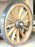 New Wagon Wheel. Picture taken in Bucharest, Romania Royalty Free Stock Photography
