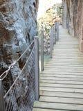 New walkway in El Chorro National Park Royalty Free Stock Photos