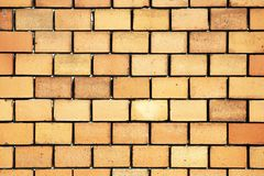 New wall. Masonry of a building stock images