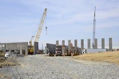 New warehouse construction stock photography