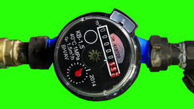 New water meter with green screen. stock video