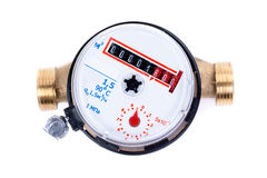New water meter on white background Stock Image