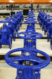 New water pipelines with valve on stock Royalty Free Stock Photos