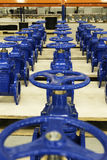New water pipelines with valve on stock Royalty Free Stock Photo