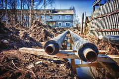 New water pipes Stock Photos