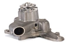 New water pump in the cast body. Stock Photo