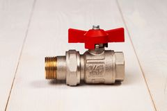 New water valve with 3/4` royalty free stock images