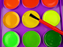 New watercolors Stock Photography