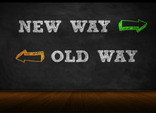 New way - old way Royalty Free Stock Photo