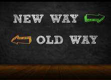 New way - old way Royalty Free Stock Photo