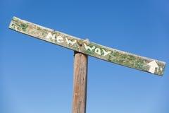 New way sign Royalty Free Stock Photo
