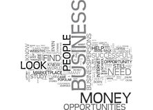A New Way To Earn Money How To Find Business Opportunities Word Cloud. A NEW WAY TO EARN MONEY HOW TO FIND BUSINESS OPPORTUNITIES TEXT WORD CLOUD CONCEPT Royalty Free Stock Photography