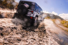 New 4wd fording river Royalty Free Stock Image