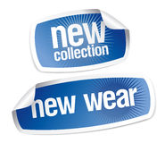 New wear collection stickers Royalty Free Stock Image