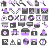 New Web & Bussines Icons Royalty Free Stock Photography