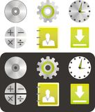 New web icons Stock Photos