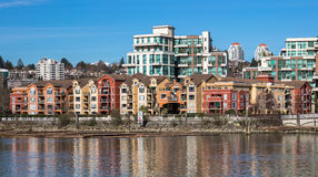 New Westminster Downtown. Apartment Buildings on the waterfront of New Westminster Downtown Stock Photography