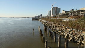 New Westminster Pier Park Walkway stock video footage