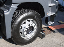 New wheel of articulated truck Royalty Free Stock Photography