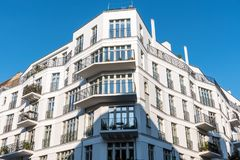 New white apartment house in Berlin. New white apartment house seen in Berlin, Germany Stock Photo