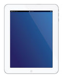 New white Apple iPad 3 tablet. On March 7 2012, Apple unveils the new iPad 3. In this device Apple is adding dual-core Apple A5X, 4G LTE, faster video graphic Royalty Free Illustration