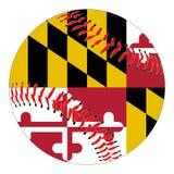 Maryland Flag Baseball Royalty Free Stock Image