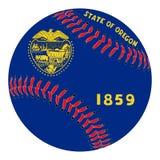 Oregon Flag Baseball Royalty Free Stock Photo