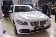 New white bmw 5 series li car Stock Images