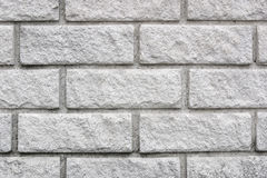 New White Brick Wall Royalty Free Stock Photography