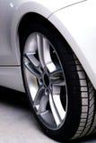 New white car on black background Stock Photography