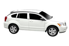 New white car isolated Royalty Free Stock Image