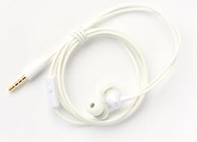New white earphone Royalty Free Stock Images