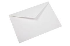 New white evelope isolated. Royalty Free Stock Image