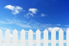 New white fence Royalty Free Stock Images