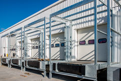 New white loading dock under construction Royalty Free Stock Images