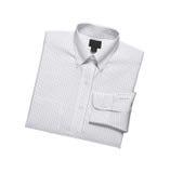 New white man's shirt. Isolated on white background Stock Photos