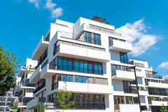 New white townhouses in Berlin. New white townhouses seen in Berlin, Germany Royalty Free Stock Photography