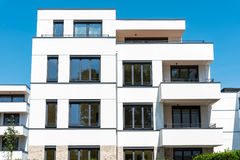 New white townhouses seen in Berlin. Germany Royalty Free Stock Photos