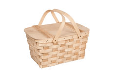 Picnic Basket on White Royalty Free Stock Image