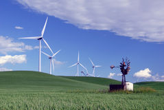 New Windmills for Old Stock Photos