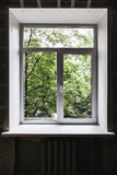 New window just after installation in dark interior Stock Image