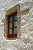 New window in old Greek house Royalty Free Stock Photography