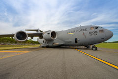NEW WINDSOR, NY - SEPTEMBER 3, 2016: Giant C-17 Globemaster III Royalty Free Stock Photo