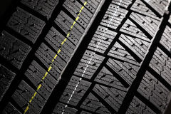 New winter car tire pattern. Stock Photo
