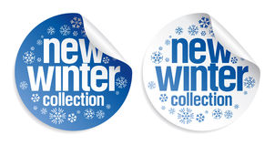 New winter collection stickers Stock Images