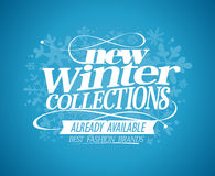 New winter collections already available. Royalty Free Stock Images