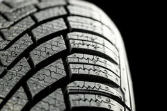 New winter tire closeup Stock Images