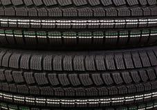 New winter tire tread. Black winter tire tread. New wheel pattern Royalty Free Stock Photography