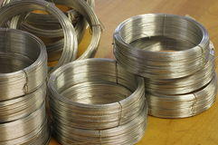 New wire rolls objects tools Stock Photos